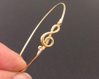 Music Bracelet, Music Jewelry, Treble Clef Bracelet, Treble Clef Jewelry, Music Gift Idea, Music Lover Gift, Music Teacher Gift for Musician