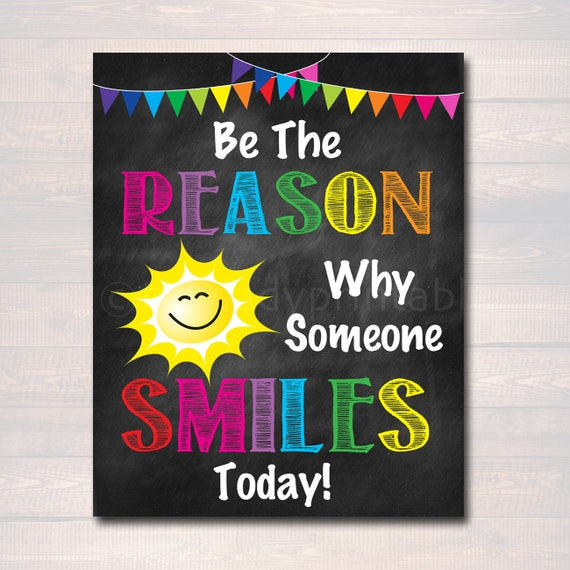 Be the Reason Someone Smiles Today School Counselor Poster