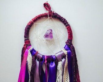 Amethyst, Purple and Red Dreamcatcher - Large // Dream Spell