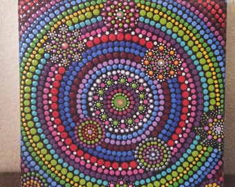 gorgeous painting,colorful and tactile,dot art
