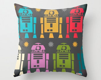 Star Wars pillow - R2D2 pillow cover - Boyfriend gifts - Decorative pillow cover - Nursery pillow - Men gift