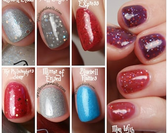 FULL SIZE Book 1 Collection - Custom Harry Potter Book 1 Inspired Nail Polish