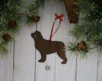 Customizable Newfoundland Dog Christmas Tree Ornament | Personalized Dog Ornament