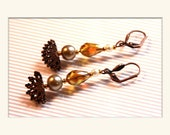 Fancy earrings yellow and...