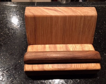 Oak and Walnut Business Card holder