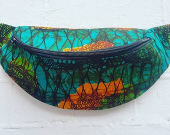 African Printed Wax Cotton bum bag