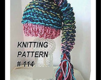 PIXIE HAT, HAT Knitting pattern, number 114,  Crazy easy pixie hat, newborn to adult sizes included