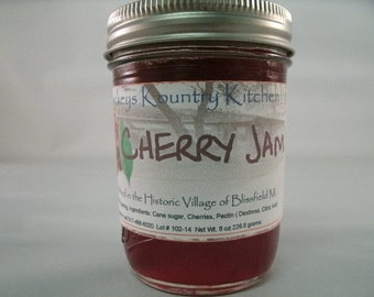 Cherry Jam Homemade by Beckeys Kountry Kitchen jelly preserves fruit spreads