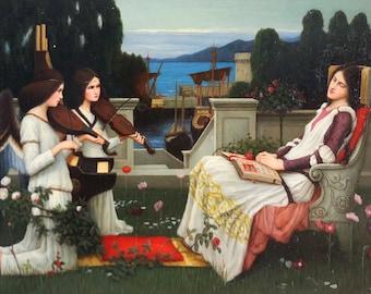 Oil painting after Pre Raphaelite John Waterhouse