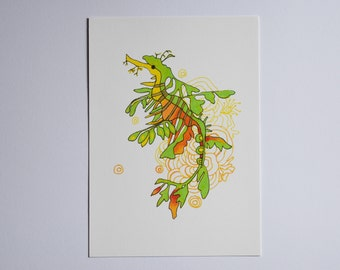 A5 Giclee Print: Leafy Sea Dragon