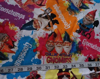 Goosebumps Chillin with my Gnomes Fabric - 17 inches