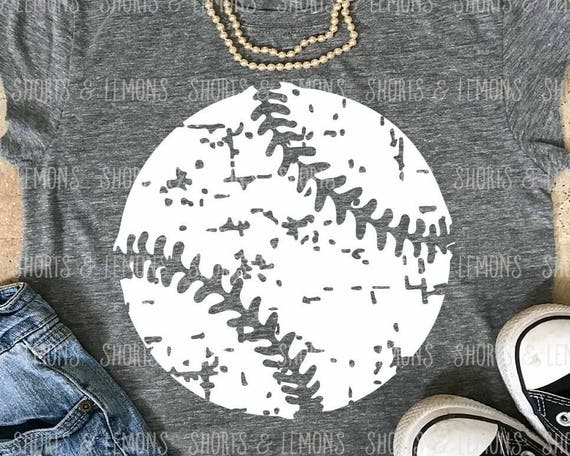 Baseball Svg Distressed Baseball Svg Dxf Eps Png Grunge