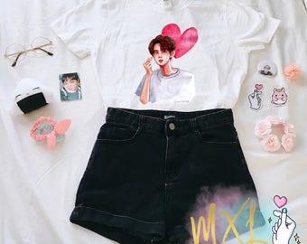 Seokjin Heart BTS KPOP Jin T-Shirt (Design by @maiyumi00)