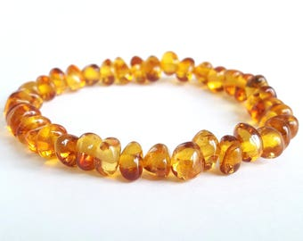 Baltic amber teething bracelet natural cognac amber bracelet for babies amber bracelet or anklet amber jewelry children bracelet amber gift