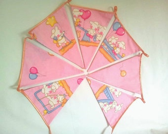 Ready to ship/Fabric bunting banner/Fabric buting/Banner with baby sheeps/Cottage chic/Babby sheep bunting/fabric garland