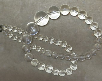 A Bold Vintage Clear Plastic Bead Necklace