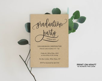 graduation party invitations etsy. Black Bedroom Furniture Sets. Home Design Ideas