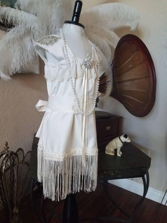 Great Gatsby, Great Gatsby Dress, Flapper Dress, Flower Girl Dress, White Flapper Dress, 1920'S Flapper Dress, White Flapper Dress, White