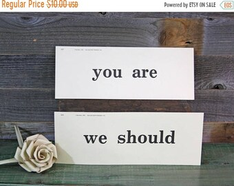 ON SALE Vintage Word Cards- Revision- Rod and Staff Publishers- You Are- We Should- Paper Ephemera Cards- Vocabulary- Grammar School- Classr