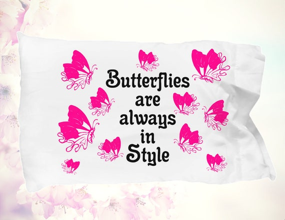 Butterfly pillowcase butterflies are always in style pillow case butterfly keeper gift