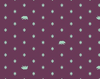Bear Hug in Lunar from the Spirit Animal fabric collection by Tula Pink for Free Spirit fabrics