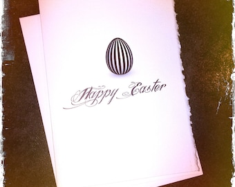 HAPPY EASTER card, cool easter card, Easter egg card