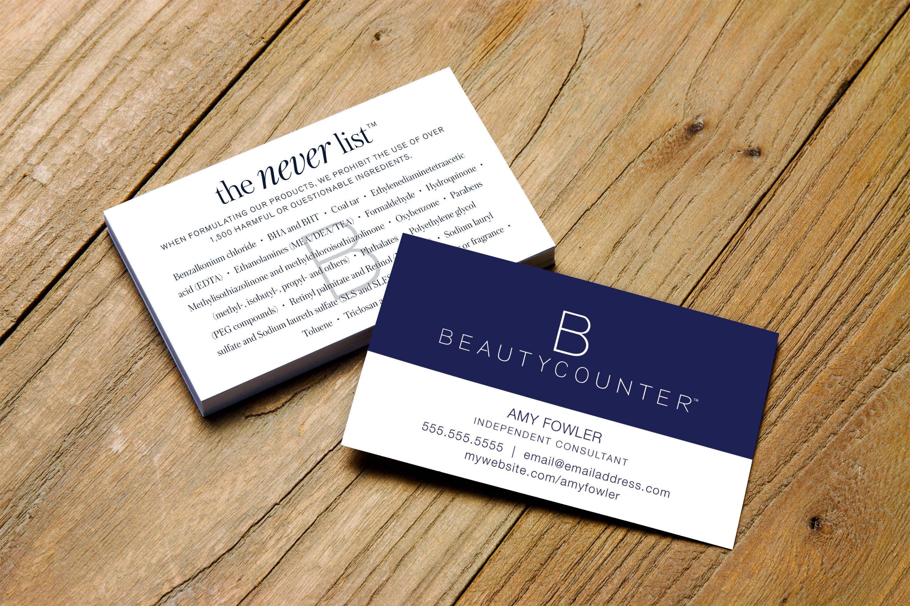 Beautycounter > the never list > Printable Business Card ...