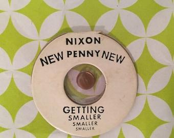 President Nixon New Penny 1960's Vintage