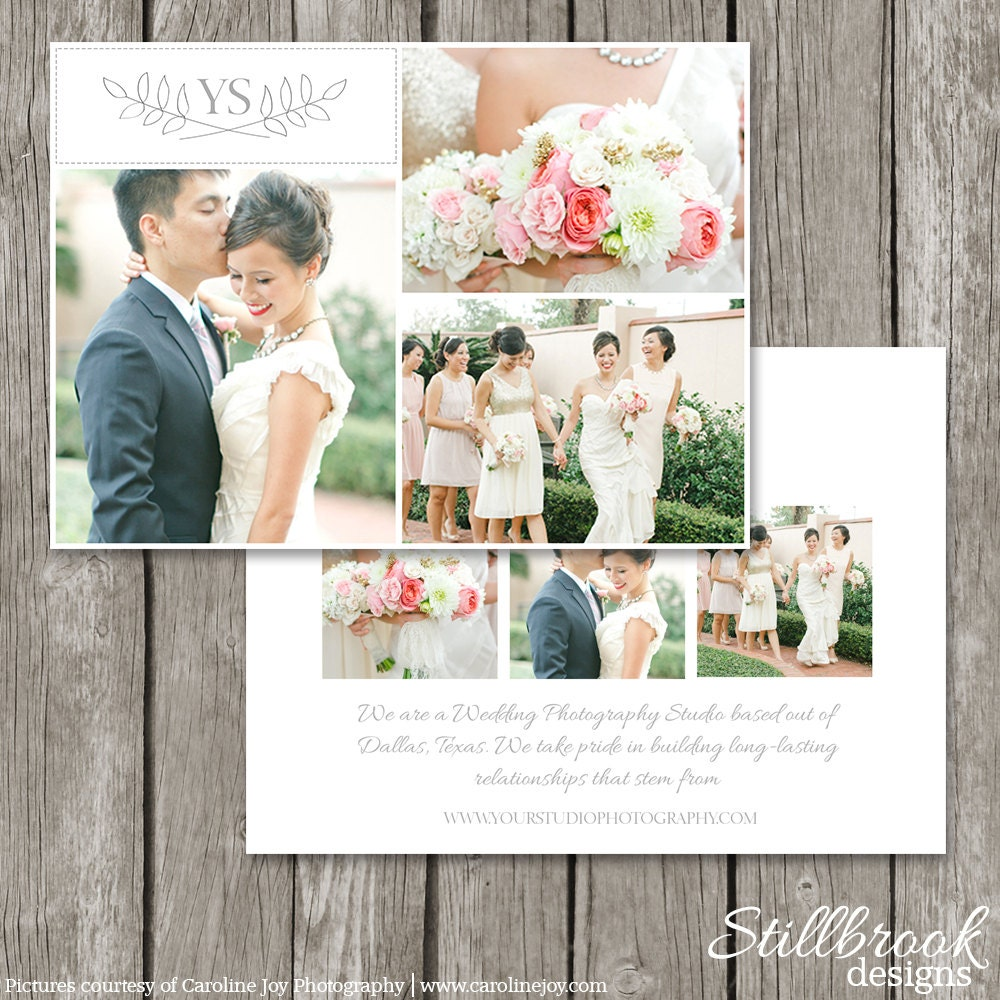 Photography Marketing Flyer Photo Card For Photographers - Wedding photography brochure template