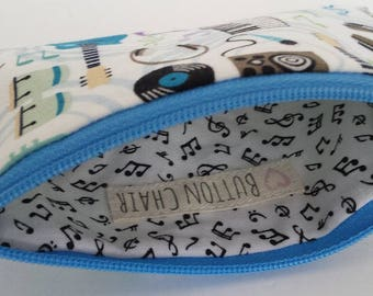 Little Zipper Pouch - Jam Session! // Coin Purse // Gift Card Holder // Party Favor // Stocking Stuffer // Gift for Kids