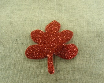 coat sewing - glittery red clover