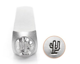 CACTUS Metal Stamp Southwest Design Stamps, ImpressArt 6mm, Native American, Indian Symbols Stamping Tool for Stamped Metal Jewelry