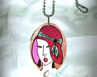 Women retro necklace 003 by Pikeros