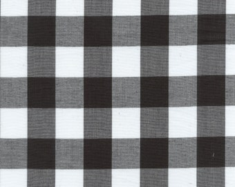 "60"" Black 1"" Gingham Check-By the Yard"