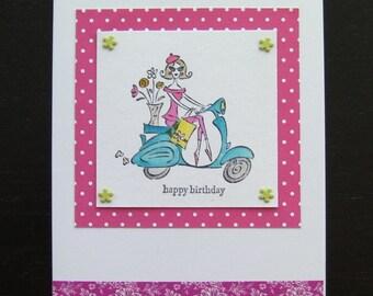 Girlie Birthday Card, Handmade