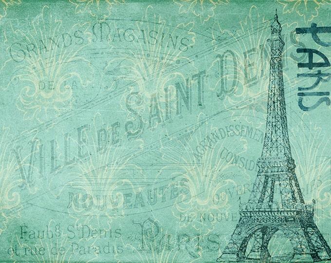 Paris art print, Eiffel tower art, Eiffel tower print, Eiffel tower decor, France decor, France wall art, vintage style print, post card