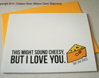 Cute Just Because Card - Cheesy Love Card