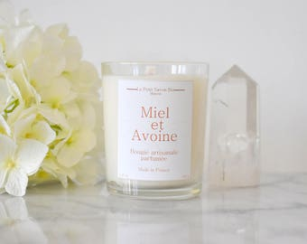 OATMEAL and honey scented candle