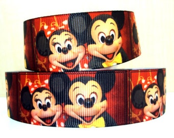 5 YDS Mickey Mouse and Minnie Mouse Ribbon