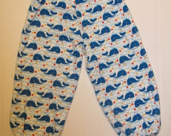 Whales and Stars Pants, Toddler Baby Pants, sizes 4T
