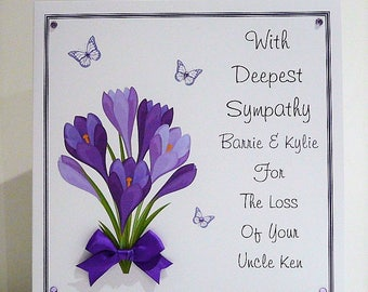 Sympathy/Condolence/Thinking of You Card Personalised