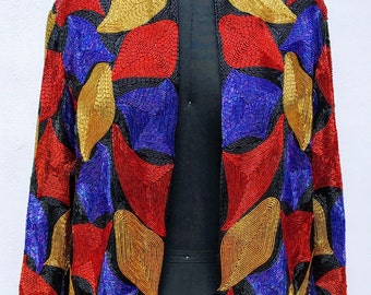 PRIMARY COLOR Beaded Jacket