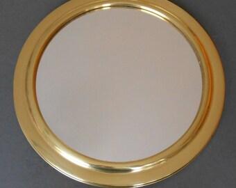 Large Porthole Mirror Concave Brass Color Porthole Mirror Vintage Worn