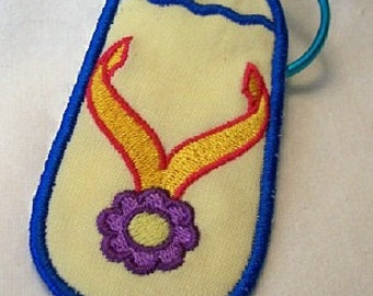 Fipflop Embroidered Keychain/Lunchbag Tag/Luggage Tag