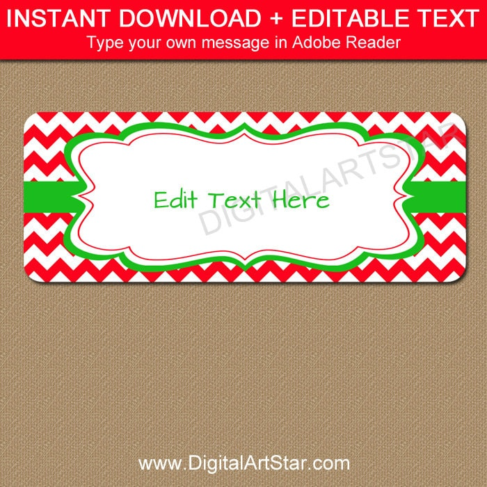 Editable Printable Address Labels Diy Holiday Return Address