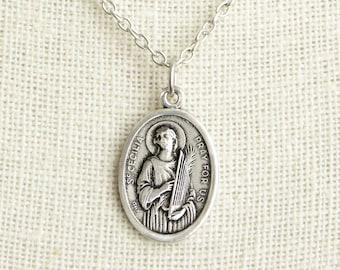 Saint cecilia etsy saint cecilia medal necklace aloadofball Gallery