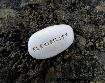 FLEXIBILITY - Ceramic Message Pebble