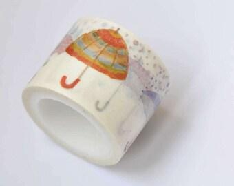 Umbrella Rainy Day Washi Tape 30mm wide x 5m long  No.12289