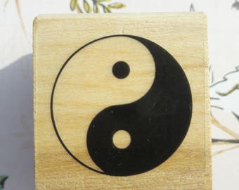Yin Yang Wood Mounted Rubber Stamp Scrapbooking & Paper Craft Supplies