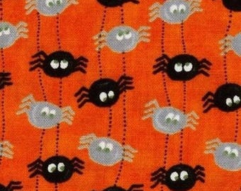 Mini patchwork spider haloween 54cmx22 cm fabric coupon